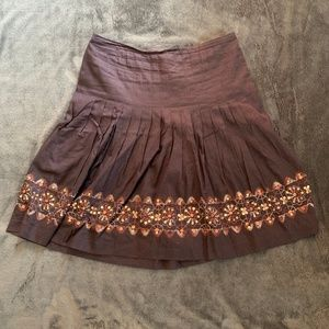 Loft Brown Bohemian Skirt - Excellent Condition